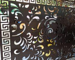 Plat motif laser cutting medan